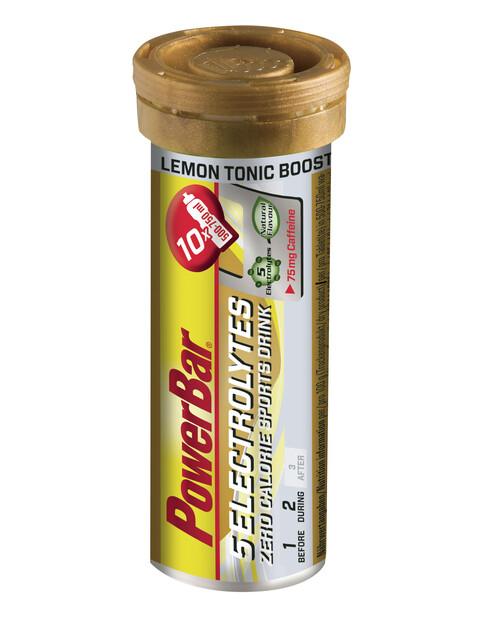 PowerBar 14 Electrolytes Zero Calorie Sports Drink Tabs 10 Pieces, Lemon Tonic Boost with Caffeine